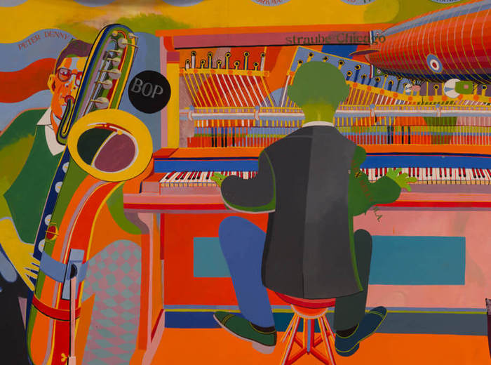 Greg Curnoe,The Camouflaged Piano or French Roundels, 1965–66