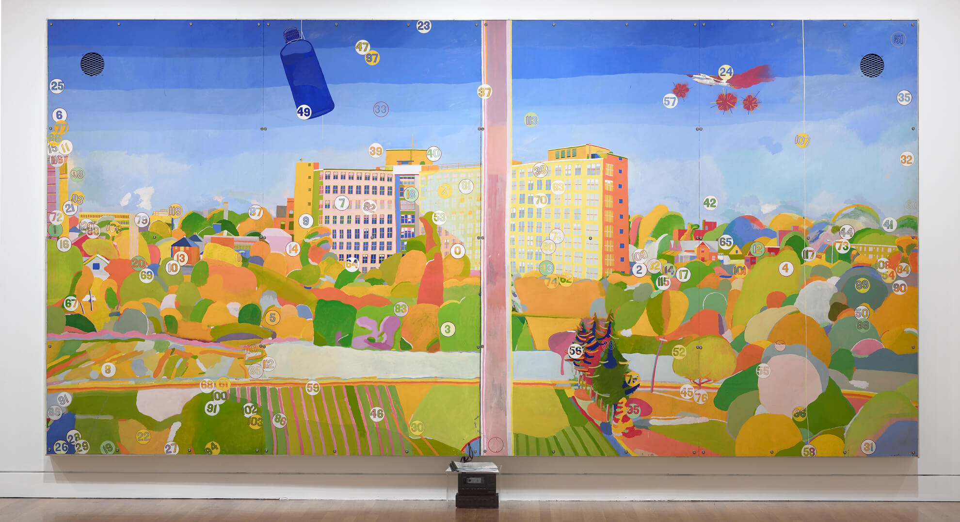 Greg Curnoe,View of Victoria Hospital, Second Series,1969–71