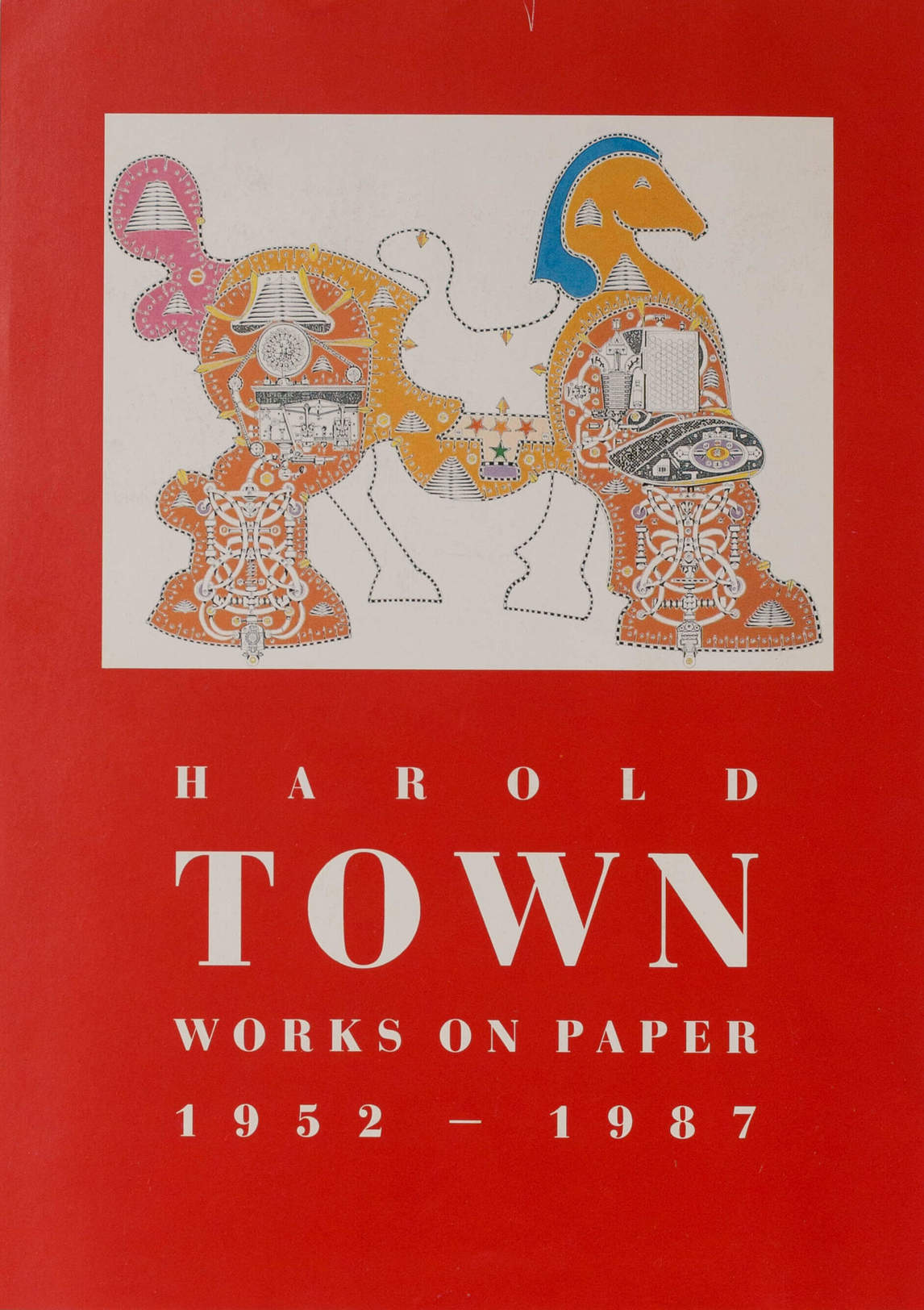 Art Canada Institute, Flyer for the 1987 exhibition Town: Works on Paper, 1952–1987 at the Canada House Cultural Centre Gallery, London, England