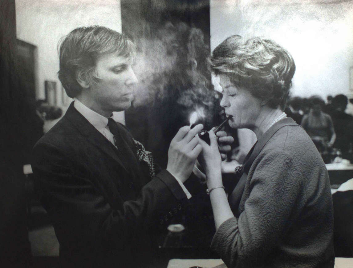 Art Canada Institute, Town and Janet Barker at an Art Gallery of Ontario reception in 1967, photographed by John Reeves