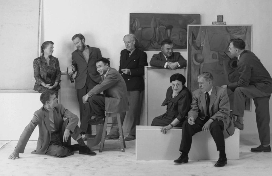 Art Canada Institute, Painters Eleven in 1957, photographed by Peter Croydon.