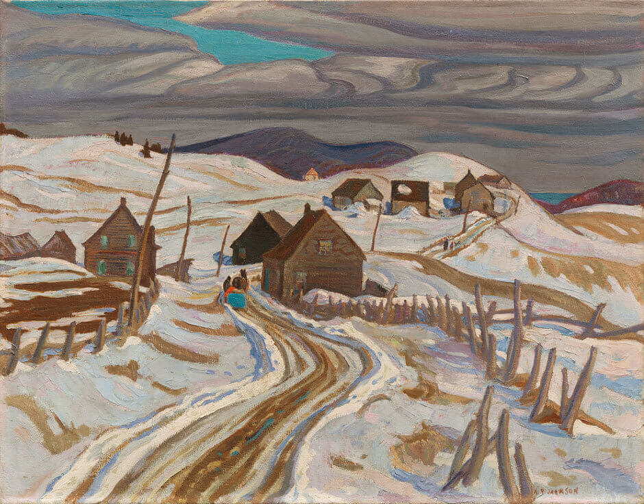 Art Canada Institute, Jock Macdonald, The Road to St. Fidele, by A.Y. Jackson, 1929–30