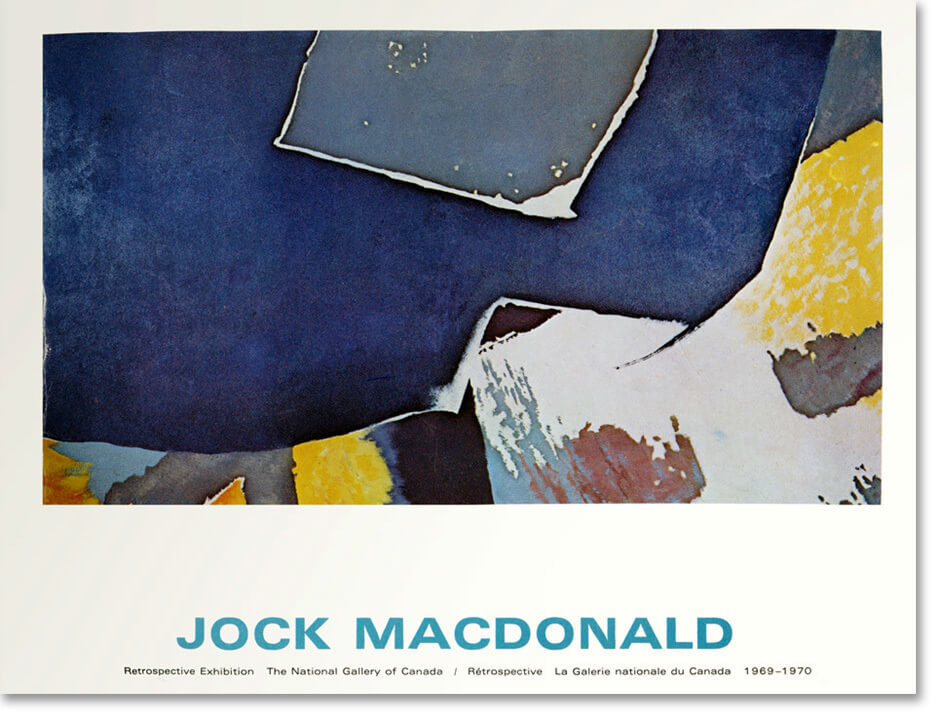 Art Canada Institute, Jock Macdonald, Cover of the exhibition catalogue Jock Macdonald: Retrospective Exhibition, 1969