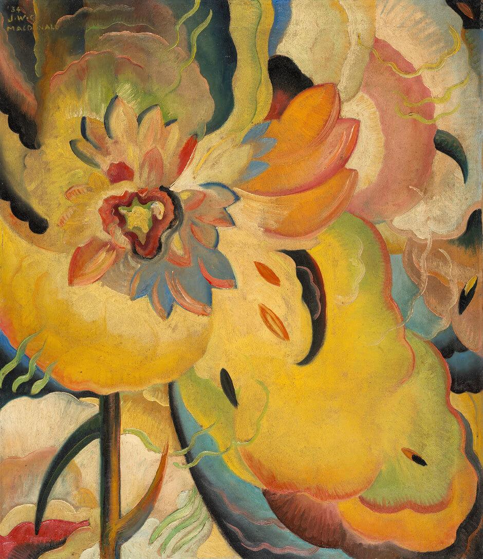 Jock Macdonald,Composition chromatique, 1934