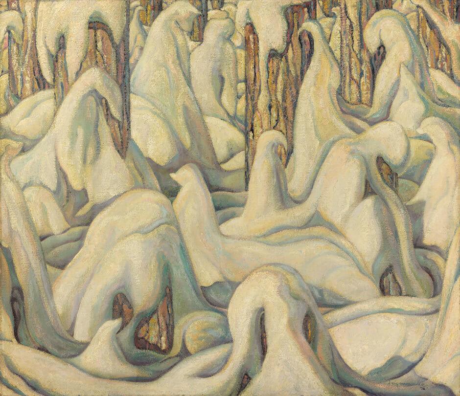 Jock Macdonald,Dans la forêt blanche, 1932