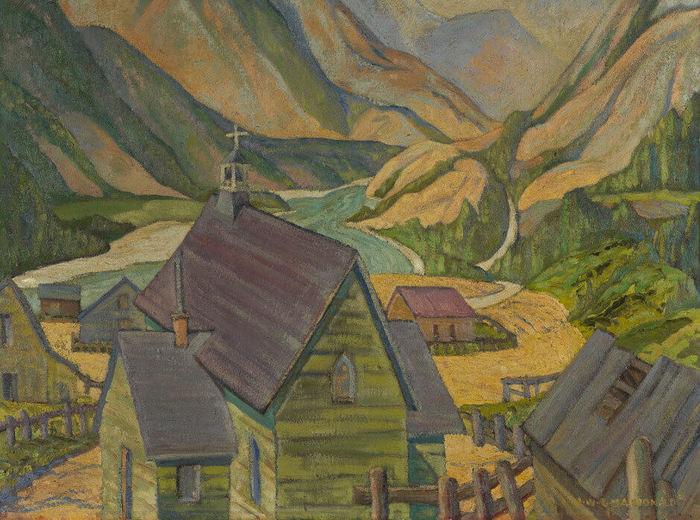 Jock Macdonald,Église de Lytton, C.-B., 1930