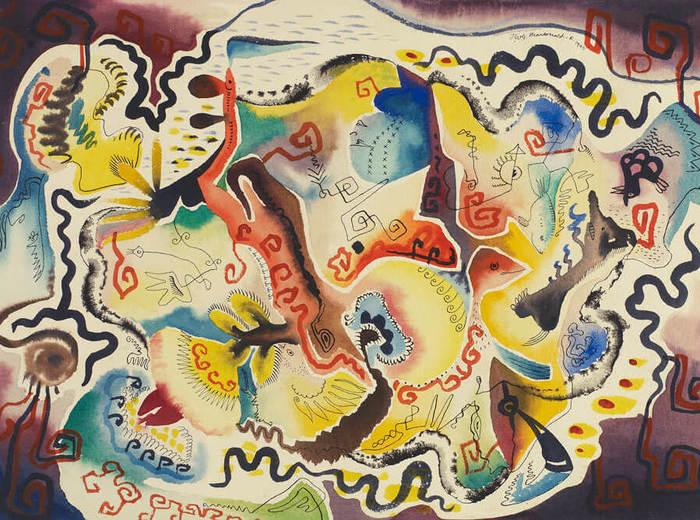 Jock Macdonald,Fantaisie russe, 1946