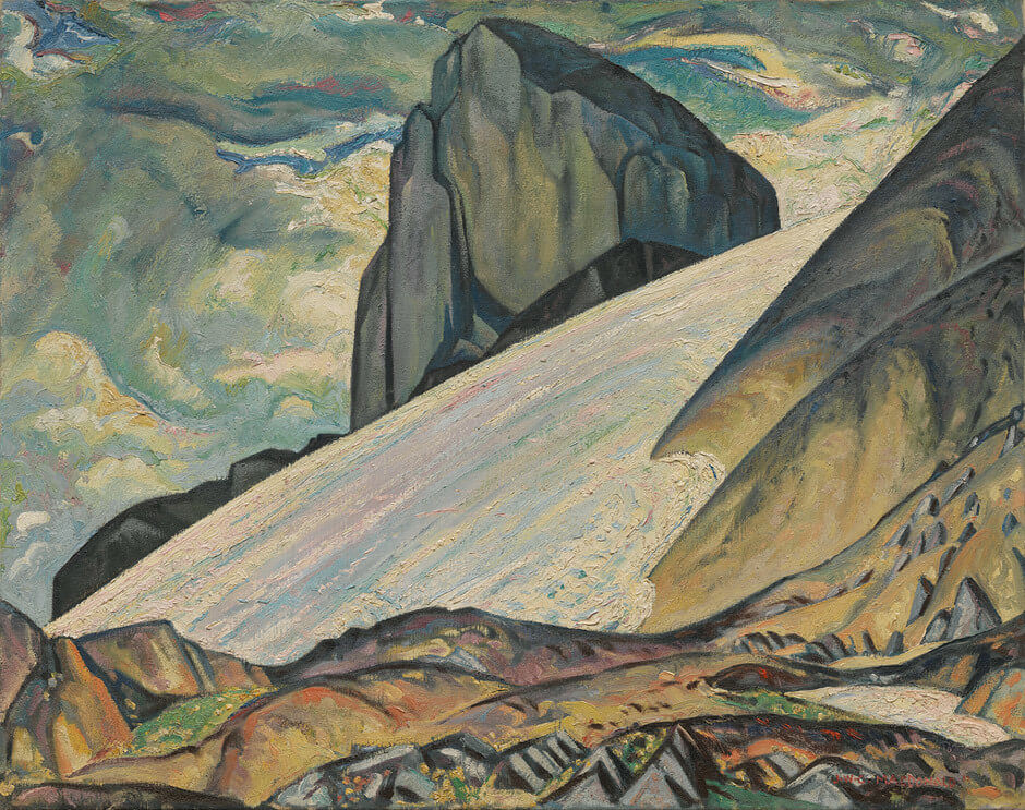 Jock Macdonald,La défense noire, parc Garibaldi, C.-B., 1932