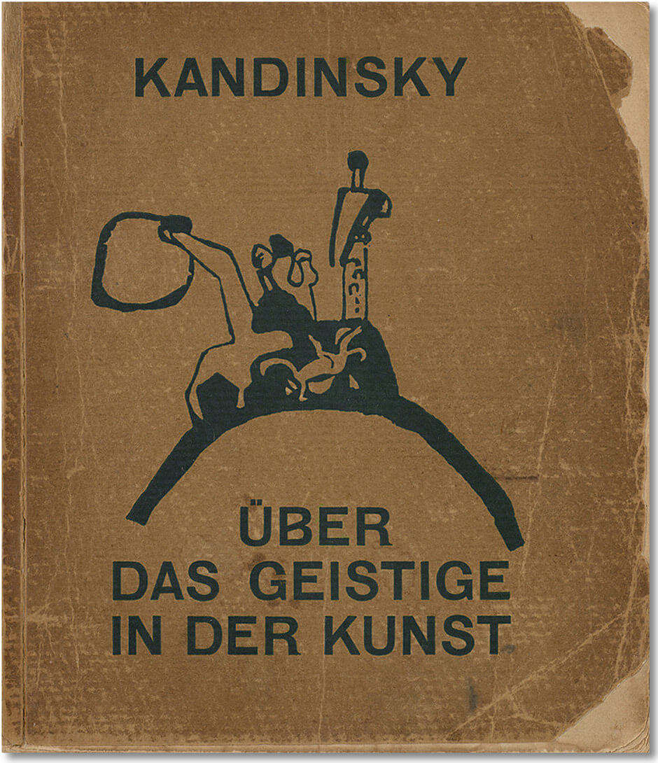 Art Canada Institute, Jock Macdonald, Cover of Wassily Kandinsky's Concerning the Spiritual in Art: Especially in Painting, 1911 (dated 1912)