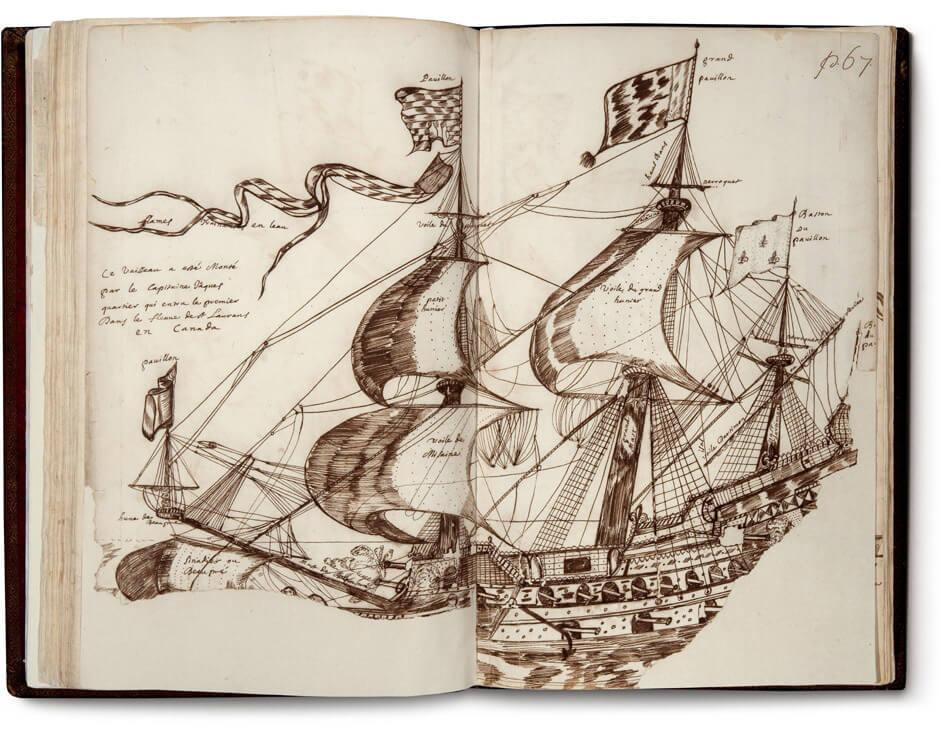 Louis Nicolas,Jacques Cartier's Ship, n.d.