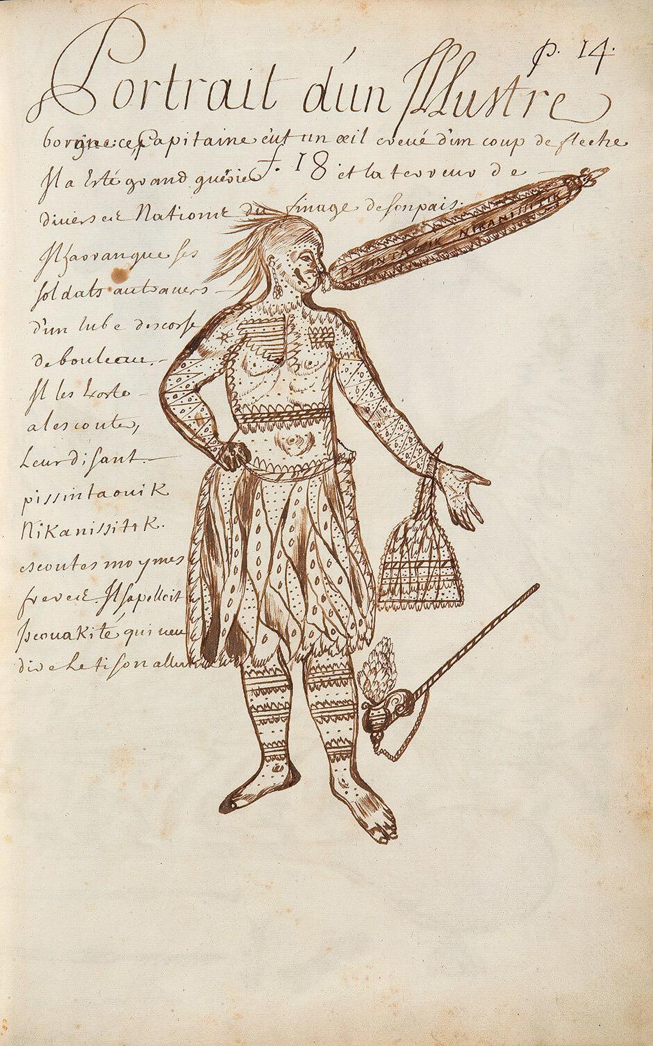 Louis Nicolas,Portrait of a Famous One-eyed Man, n.d.