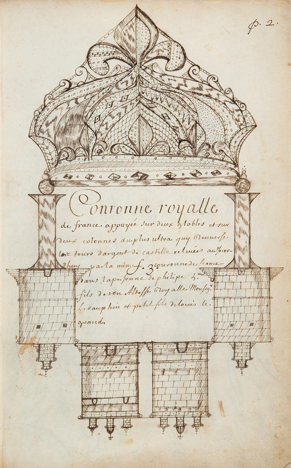 Louis Nicolas,Royal Crown of France, n.d.