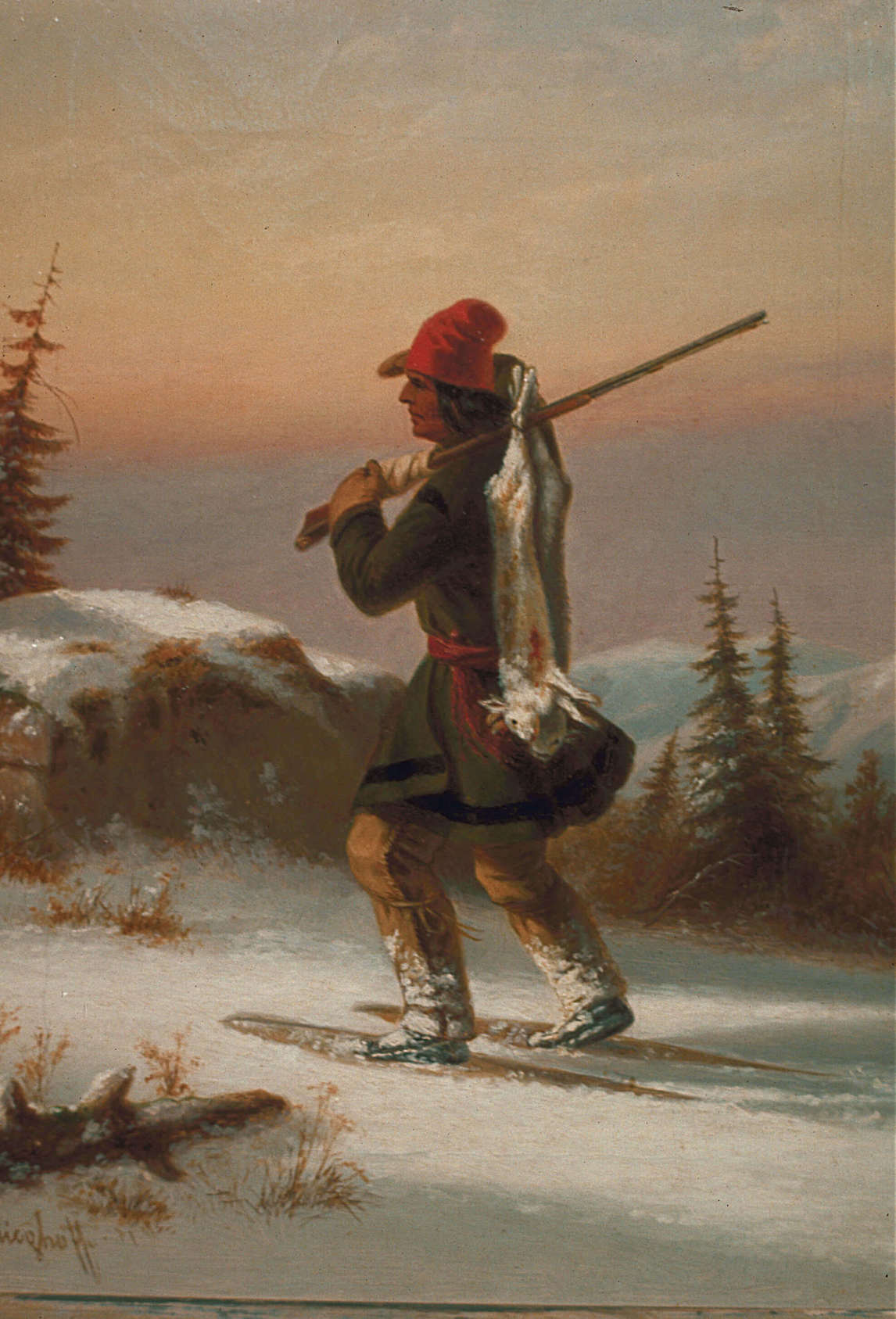 Art Canada Institute, Zacharie Vincent, Huron-Wendat from Lorette, c. 1855, by Cornelius Krieghoff