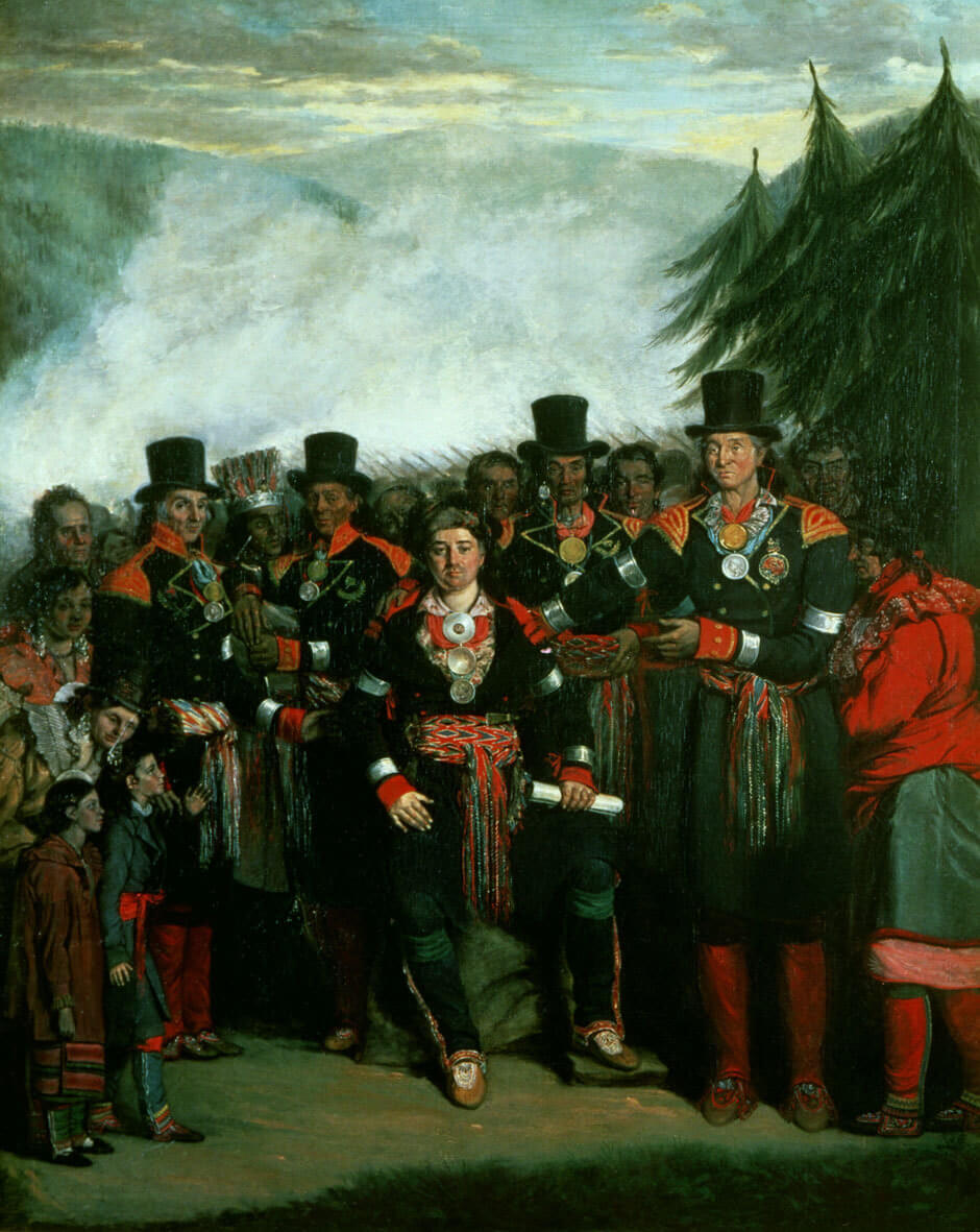 Art Canada Institute, Zacharie Vincent, Presentation of a Newly Elected Chief of the Huron Tribe, 1838, by Henry Daniel Thielcke