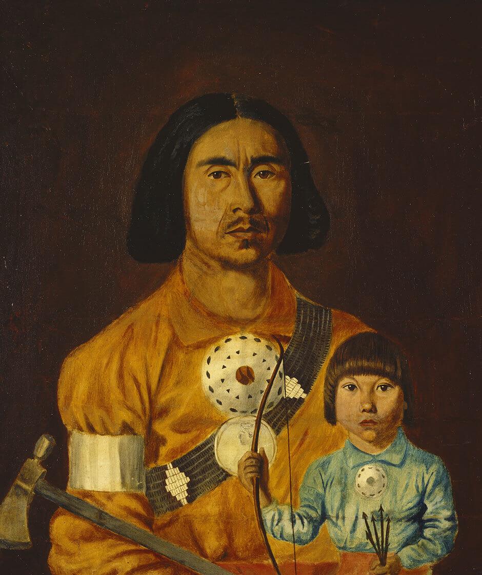 Zacharie Vincent, Zacharie Vincent and His Son Cyprien, c.1851