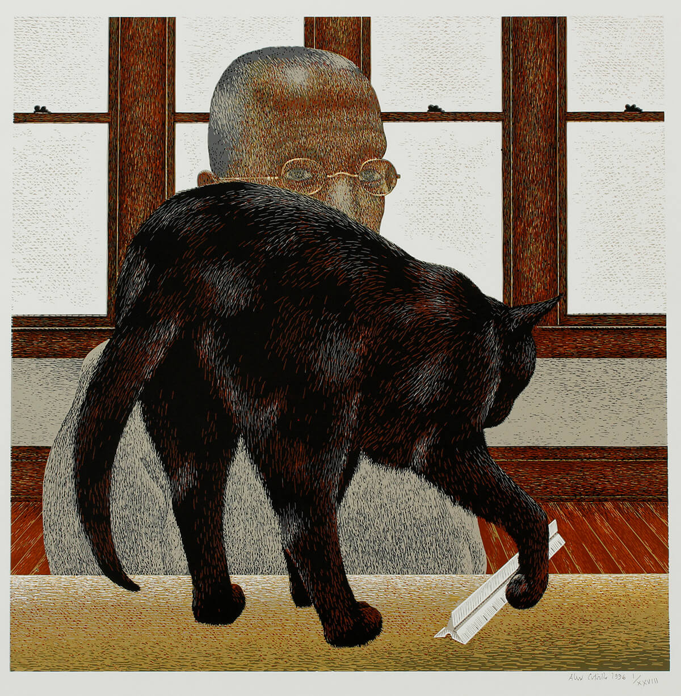 Alex Colville,Black Cat, 1996