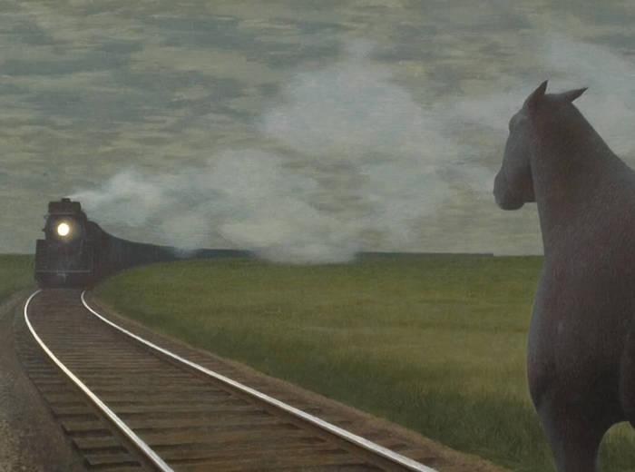 Alex Colville,Horse and Train, 1954