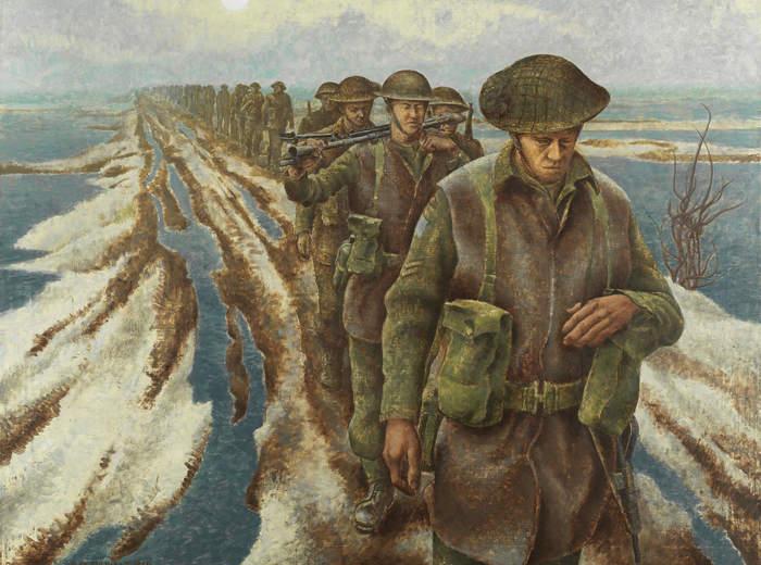 Alex Colville,Infantry, Near Nijmegen, Holland, 1946