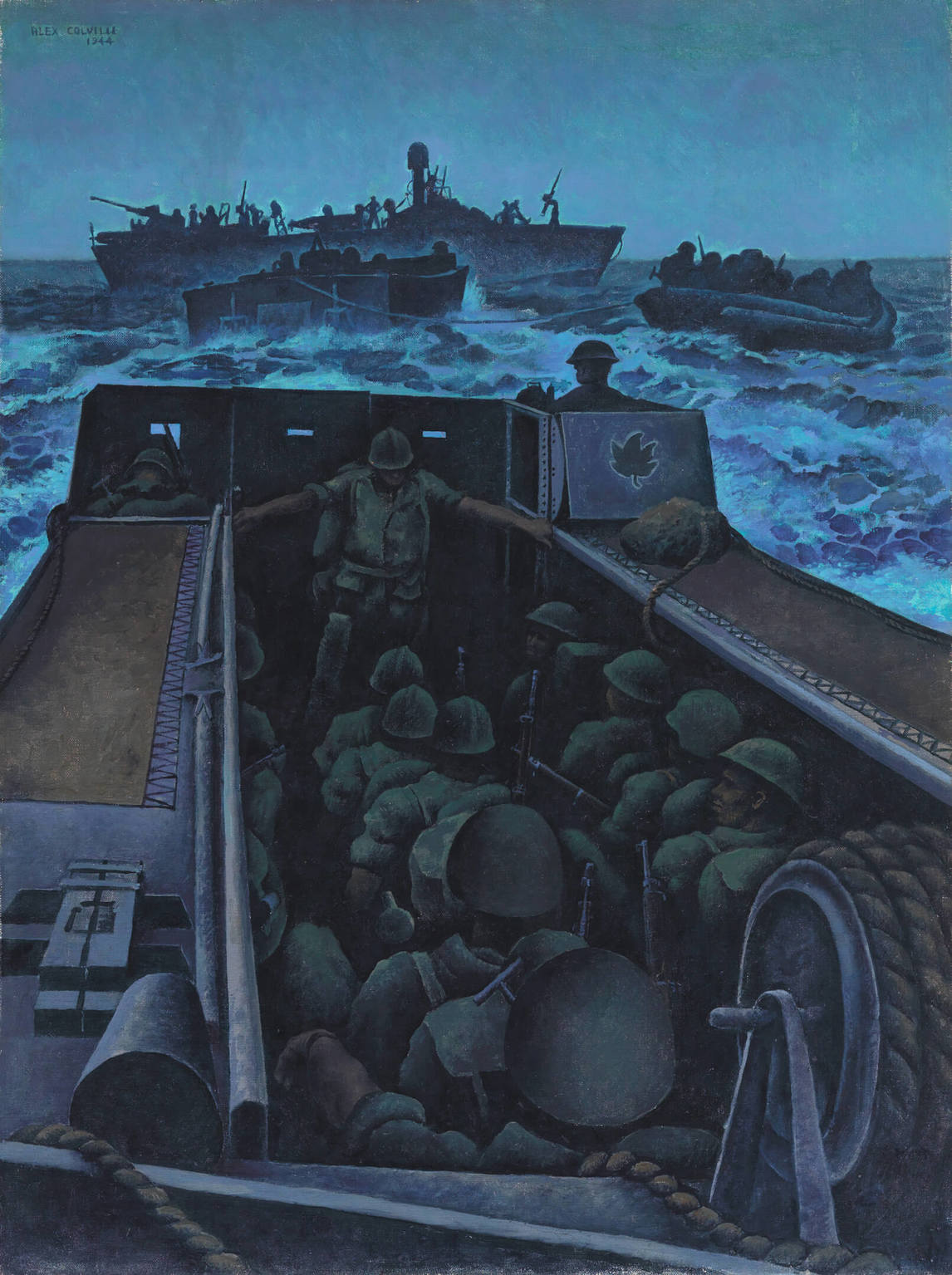 Art Canada Institute, Alex Colville, Landing Craft Assault Off Southern France