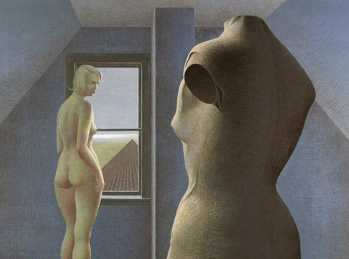 Alex Colville,Nude and Dummy, 1950
