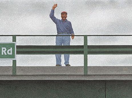 Alex Colville,West Brooklyn Road, 1996