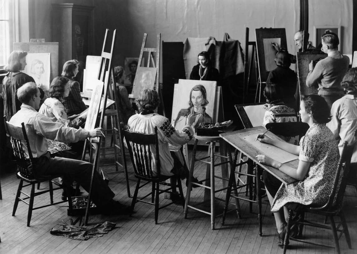 Art Canada Institute, Alex Colville, First-year portrait class taught by Stanley Royle