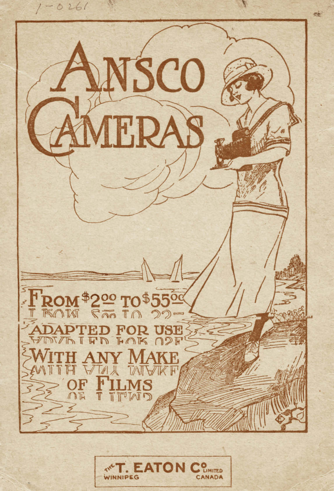Art Canada Institute, T. Eaton Company Limited, Winnipeg, advertisement for Ansco Cameras