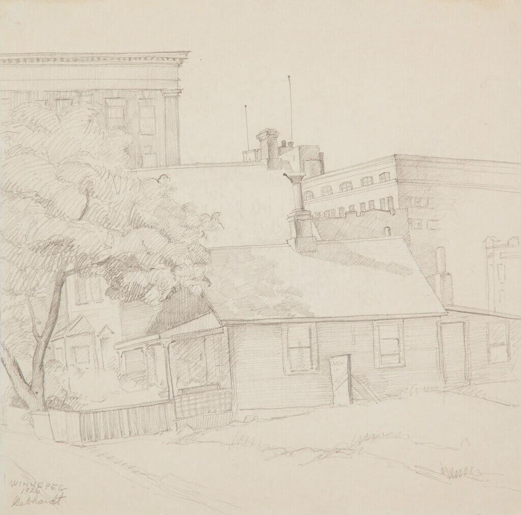 Art Canada Institute, C. Keith Gebhardt, City Scene, Winnipeg, 1926