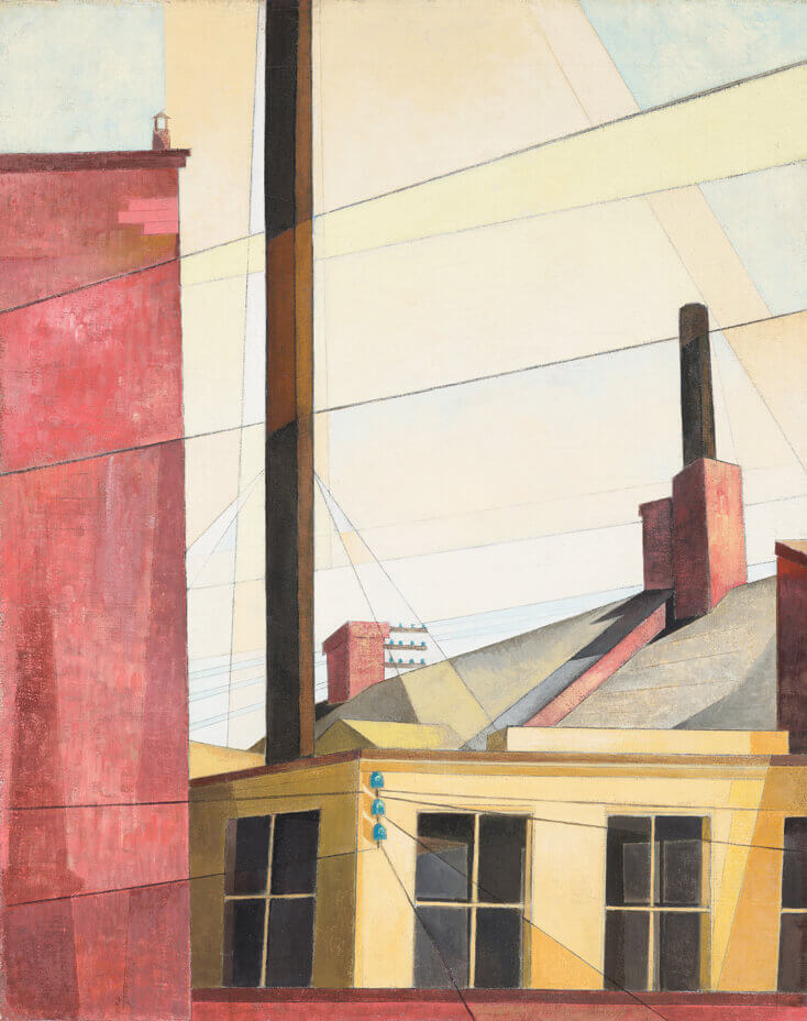 Art Canada Institute, Charles Demuth, From the Garden of the Chateau, 1921 (reworked 1925)