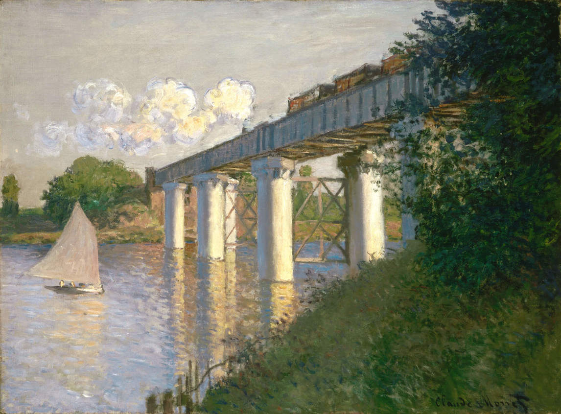 Art Canada Institute, Claude Monet, Railroad Bridge, Argenteuil, 1874