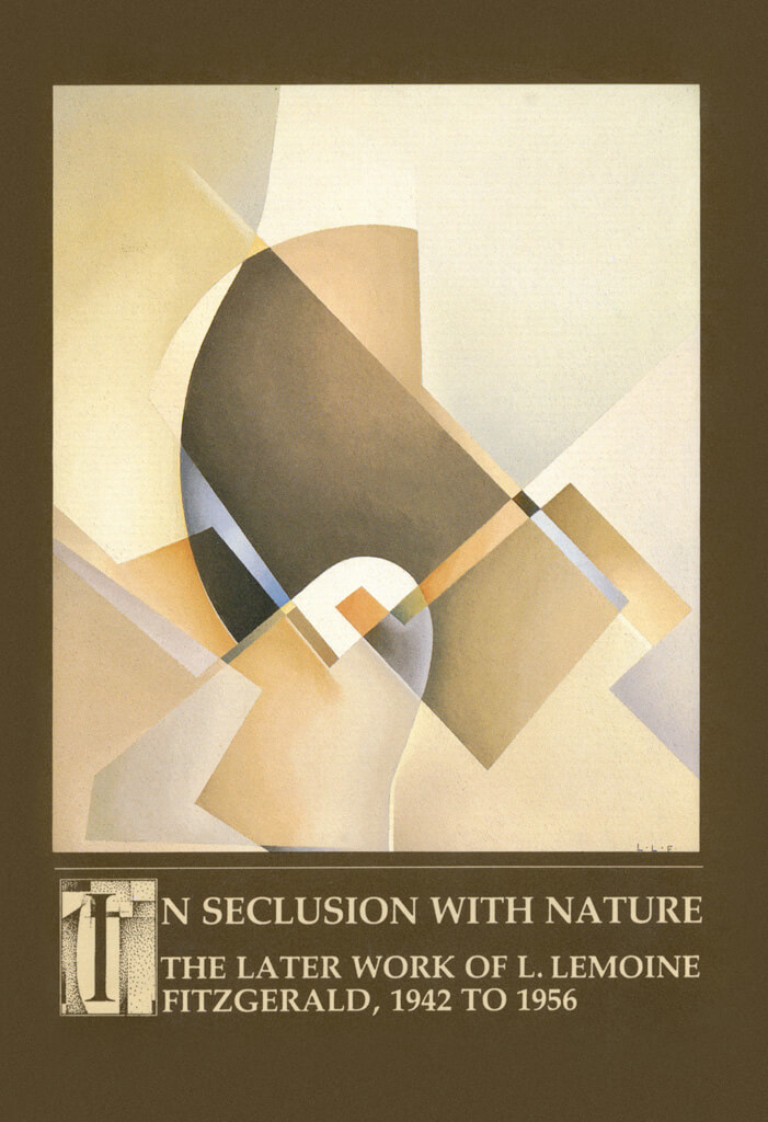 Art Canada Institute, cover of exhibition catalogue In Seclusion with Nature: The Later Work of L. LeMoine FitzGerald, 1942 to 1956, Winnipeg Art Gallery (1988), featuring Lionel LeMoine FitzGerald, Composition (Untitled Abstract), c. 1952