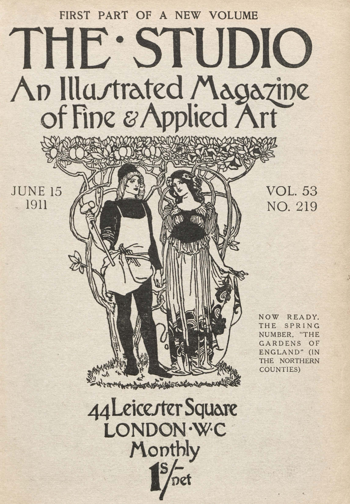 Art Canada Institute, Cover of The Studio: An Illustrated Magazine of Fine & Applied Art 53, no. 219 (June 15, 1911)