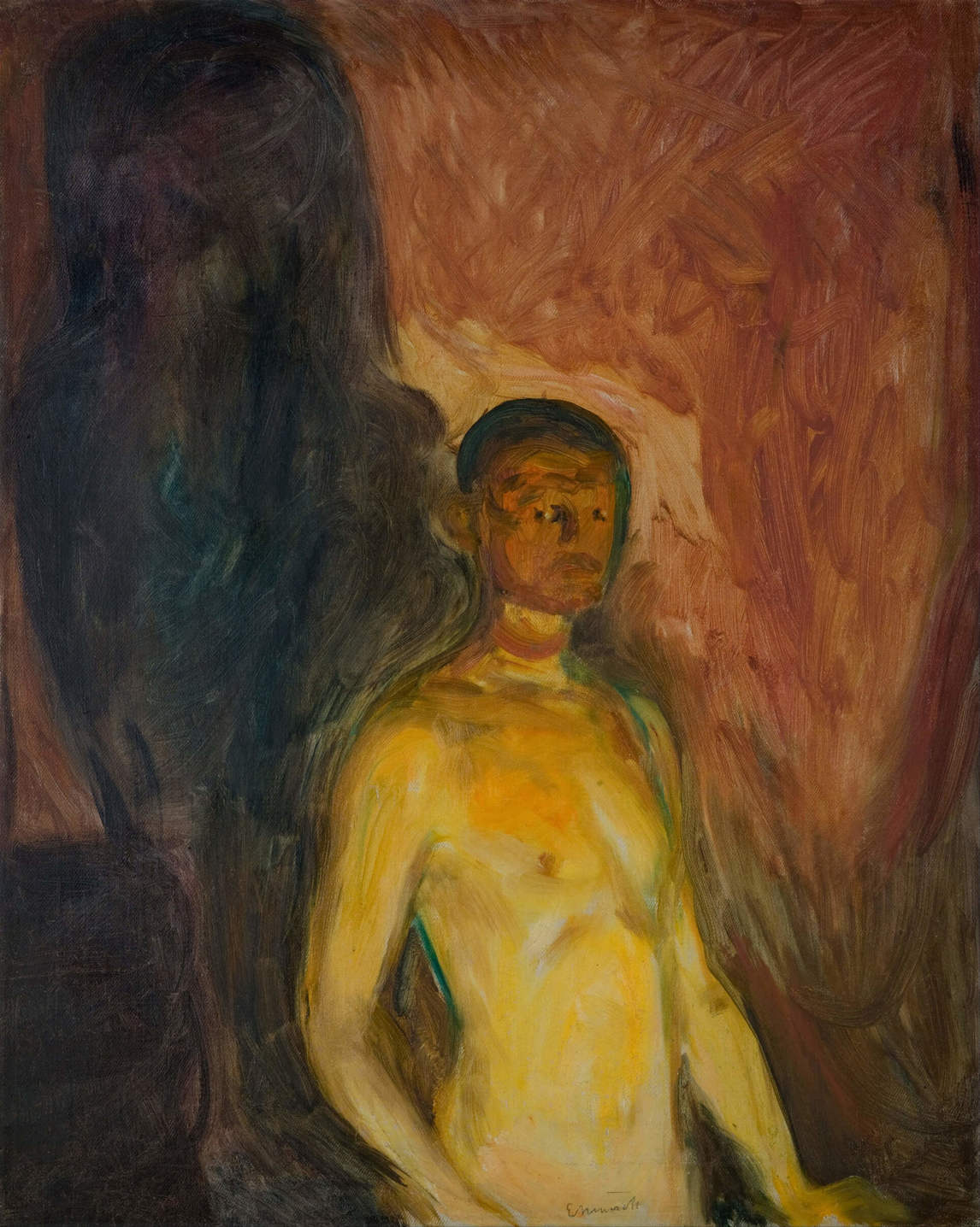 Art Canada Institute, Edvard Munch, Self-Portrait in Hell, 1903