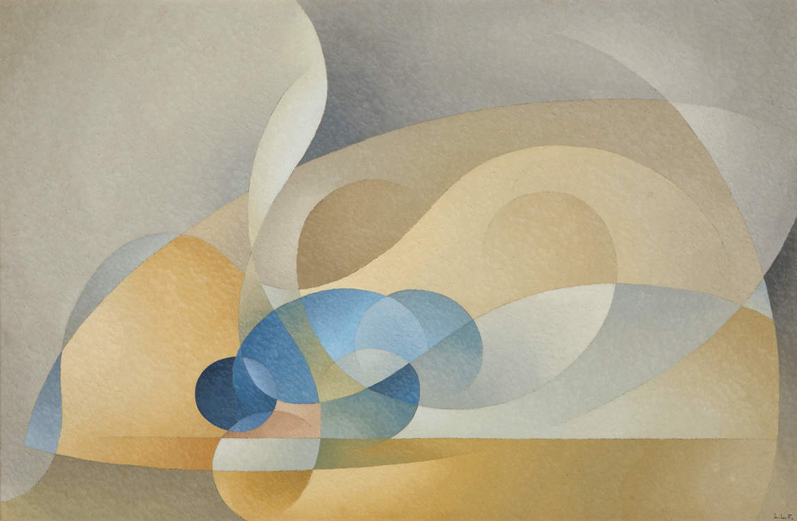Art Canada Institute, Lionel LeMoine Fitzgerald, Abstract in Blue and Gold, 1954