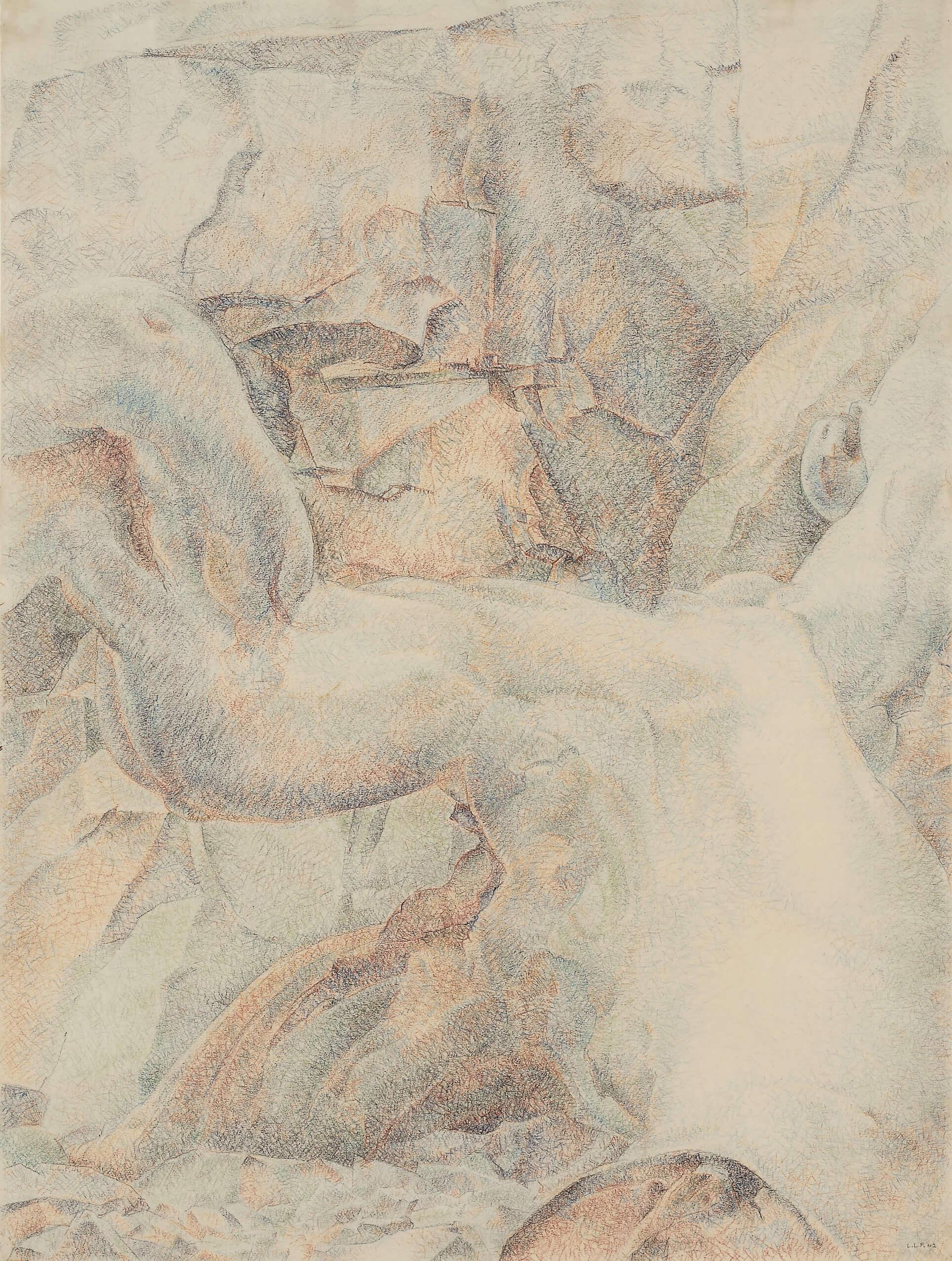 Lionel LeMoine FitzGerald, Paysage abstrait, 1942