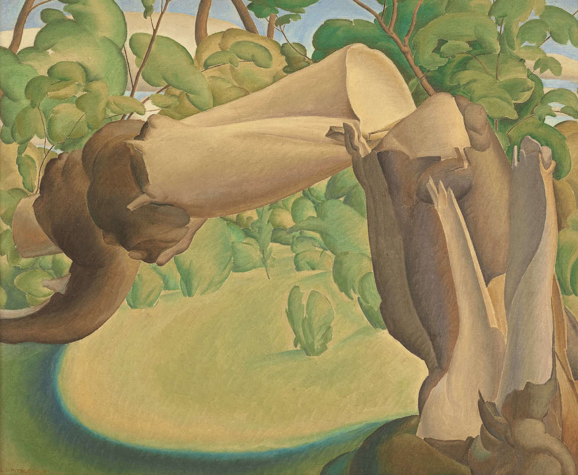 Art Canada Institute, Lionel LeMoine Fitzgerald, Broken Tree in Landscape, 1931