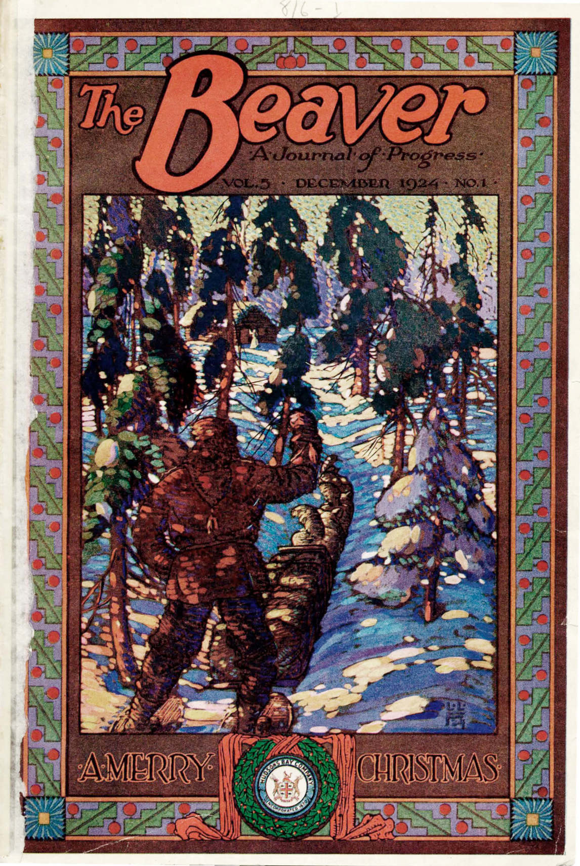 Art Canada Institute, Lionel LeMoine Fitzgerald, Cover image of The Beaver 5, no. 1, December 1924