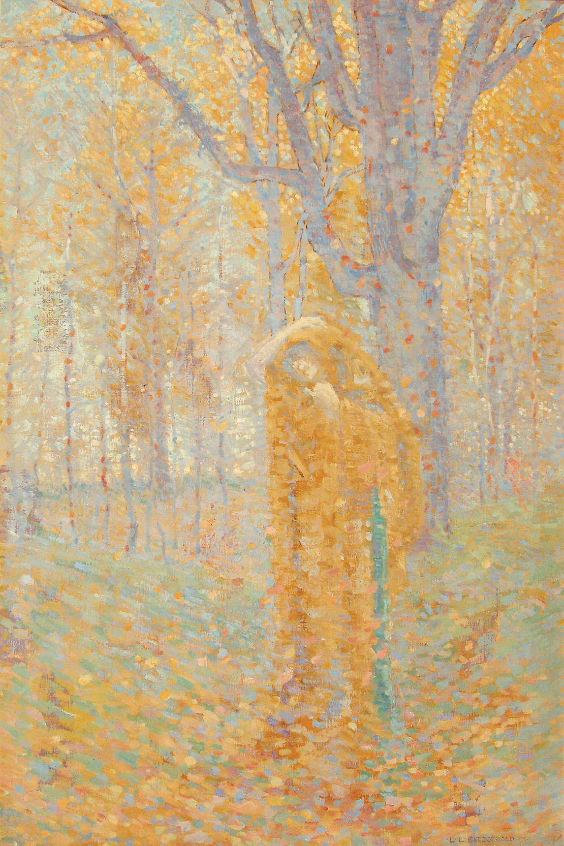 Art Canada Institute, Lionel LeMoine Fitzgerald, Figure in the Woods, 1920