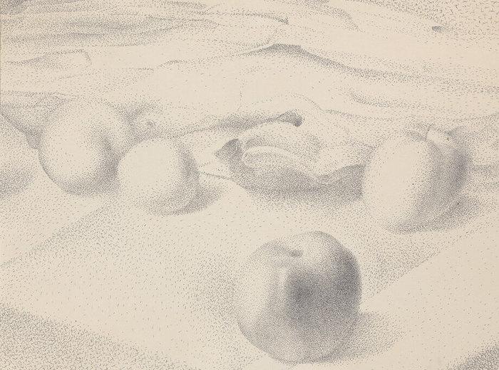 Lionel LeMoine FitzGerald, Quatre pommes sur une nappe, 17décembre1947