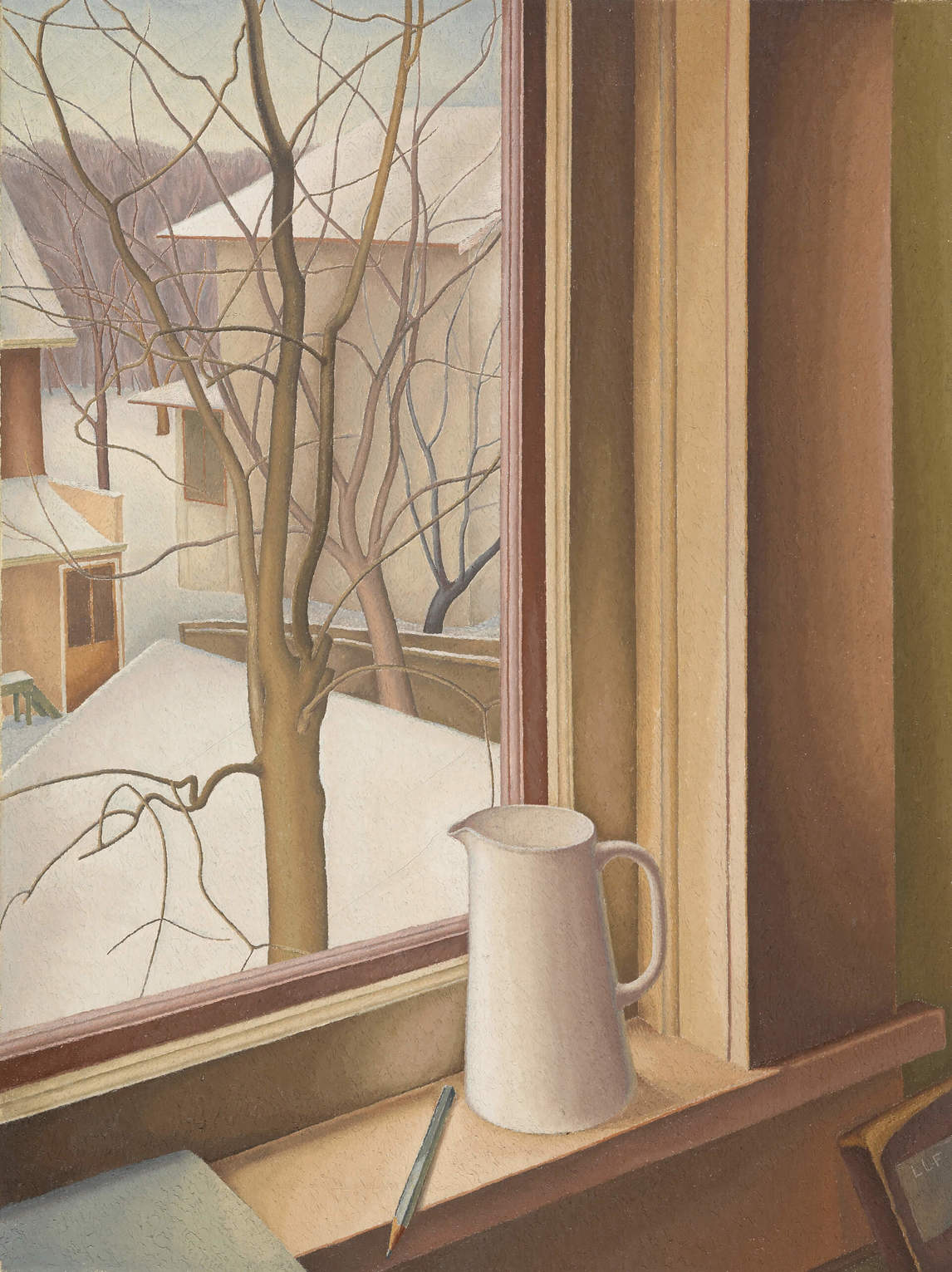 Art Canada Institute, Lionel LeMoine Fitzgerald, From an Upstairs Window, Winter, c. 1950–51