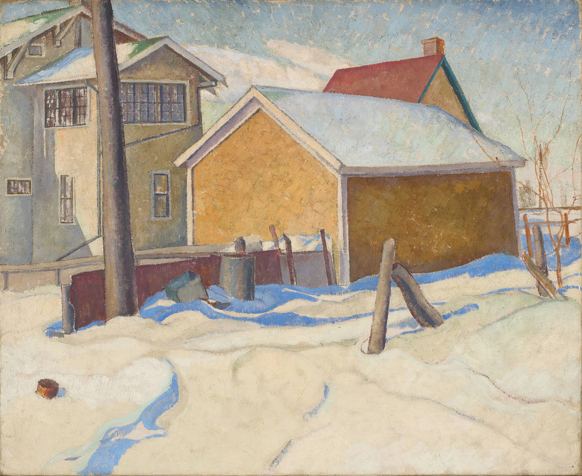 Art Canada Institute, Lionel LeMoine Fitzgerald, Garage and House, 1928