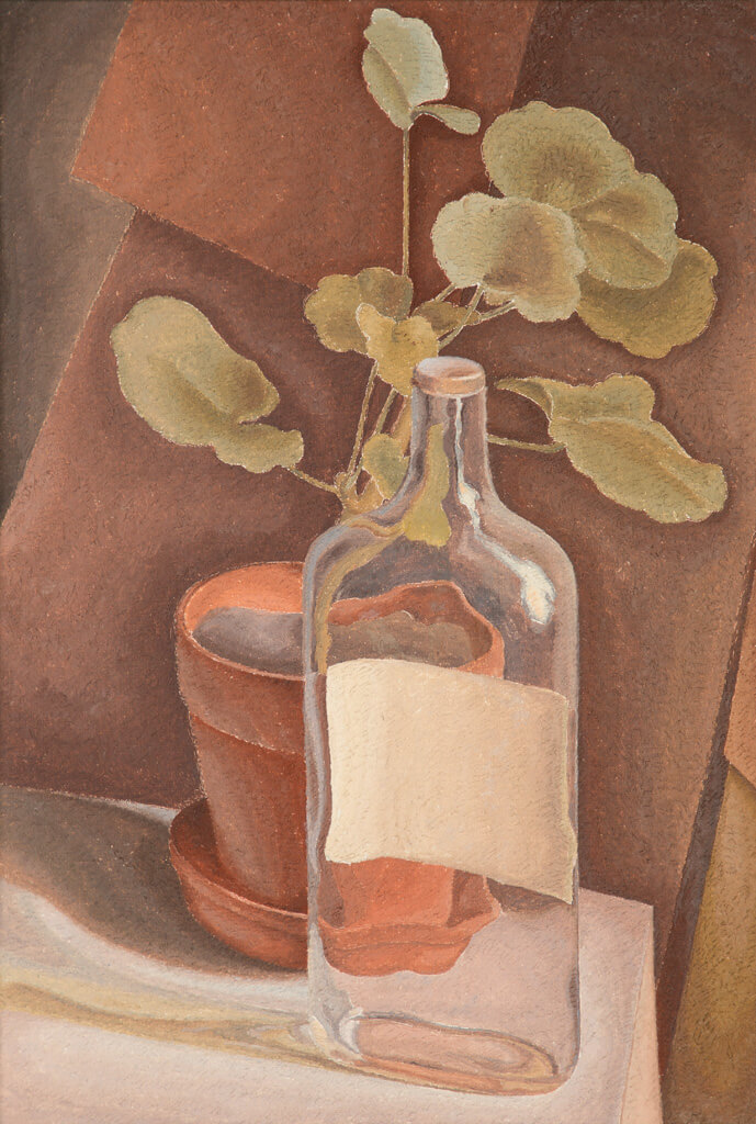 Art Canada Institute, Lionel LeMoine Fitzgerald, Geranium and Bottle, 1949