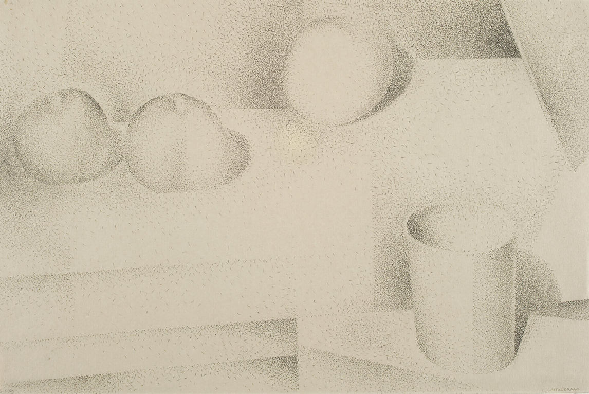 Art Canada Institute, Lionel LeMoine Fitzgerald, Green Cup and Three Apples, 1949