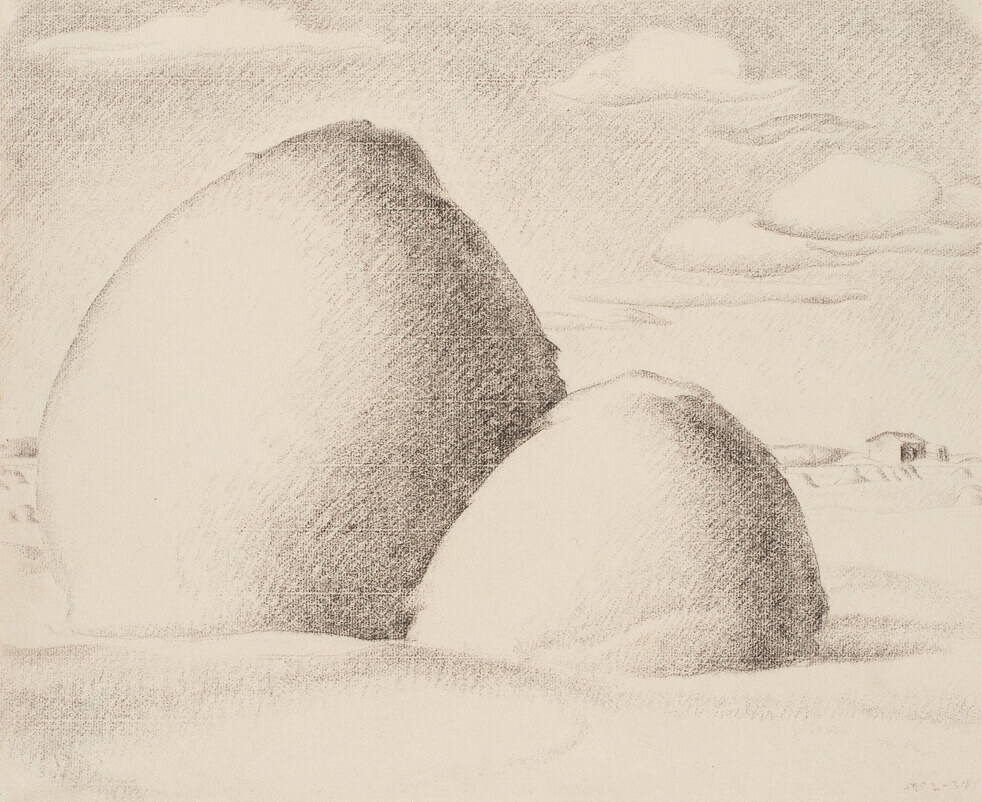 Art Canada Institute, Lionel LeMoine Fitzgerald, Haystacks, 1934