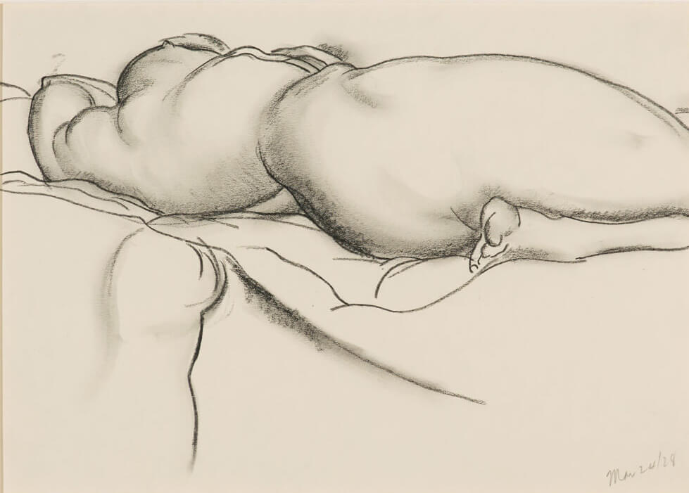 Art Canada Institute, Lionel LeMoine Fitzgerald, Nude Reclining on Bed, 1928