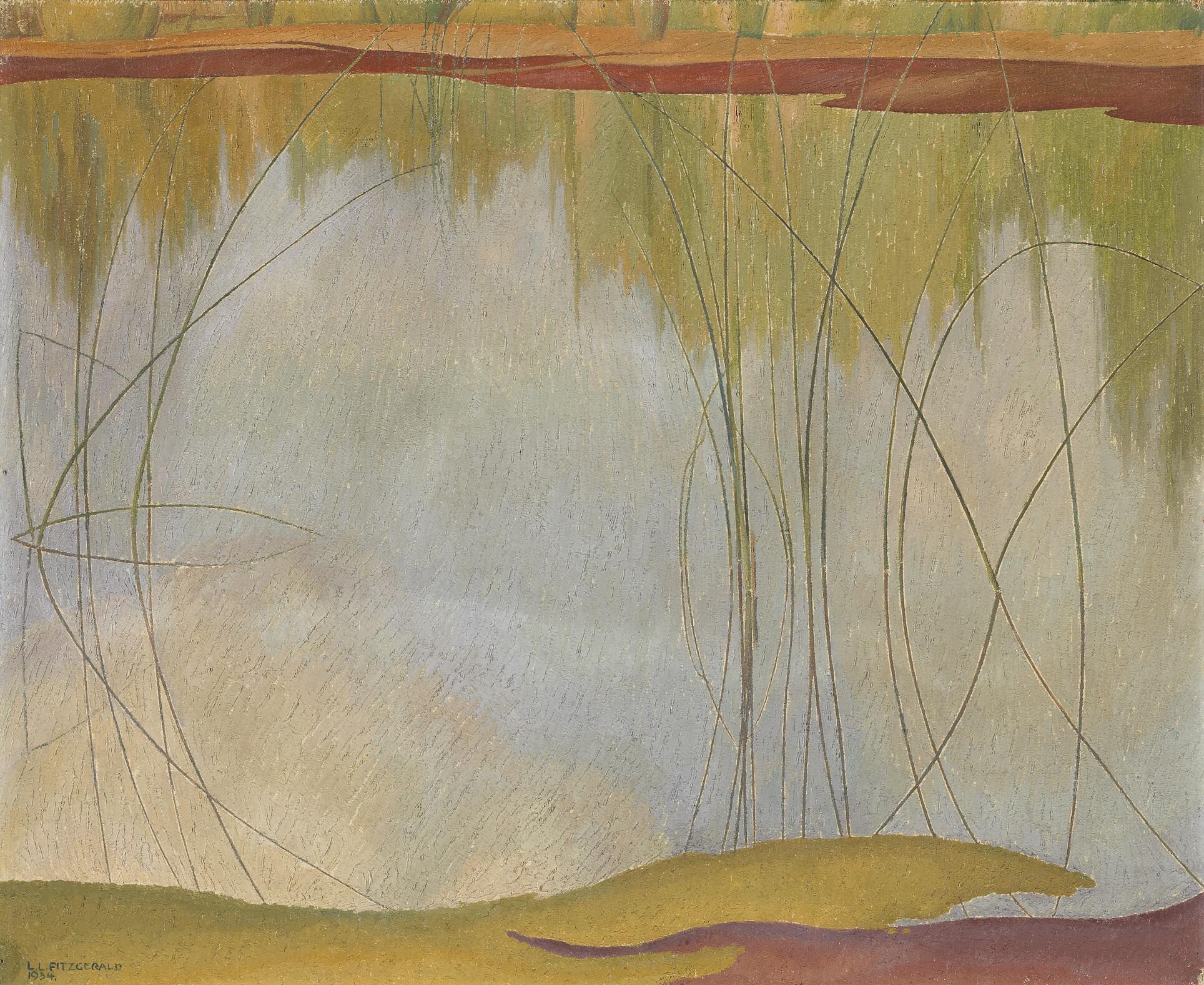 Lionel LeMoine FitzGerald, L'étang, 1934