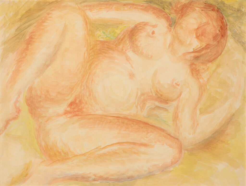 Art Canada Institute, Lionel LeMoine Fitzgerald, Red Nude, c. 1943–45