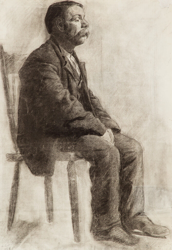Art Canada Institute, Lionel LeMoine Fitzgerald, Seated Man, 1909