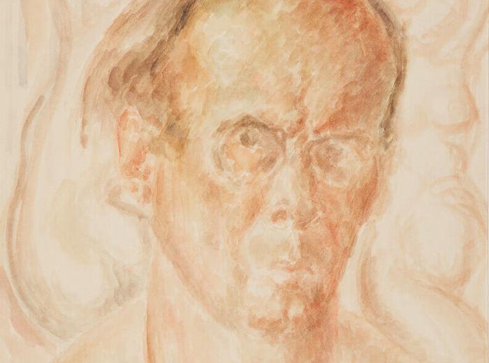 Lionel LeMoine FitzGerald, Autoportrait (buste), v.1945