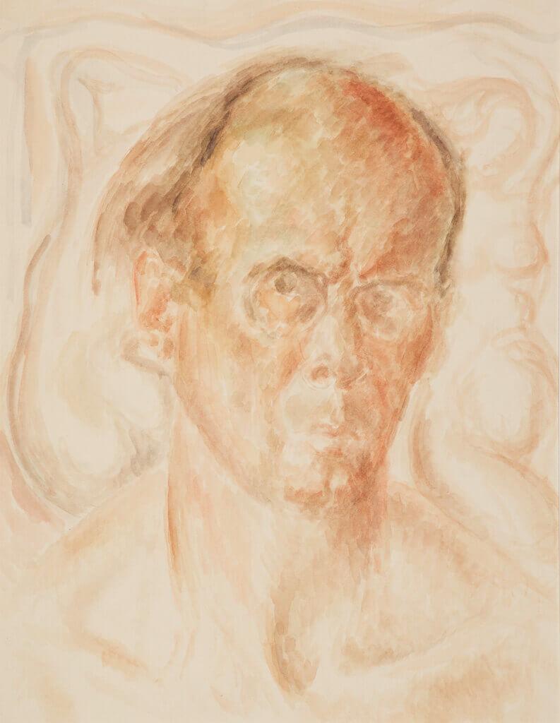 Lionel LeMoine FitzGerald, Self-Portrait (Bust), c.1945